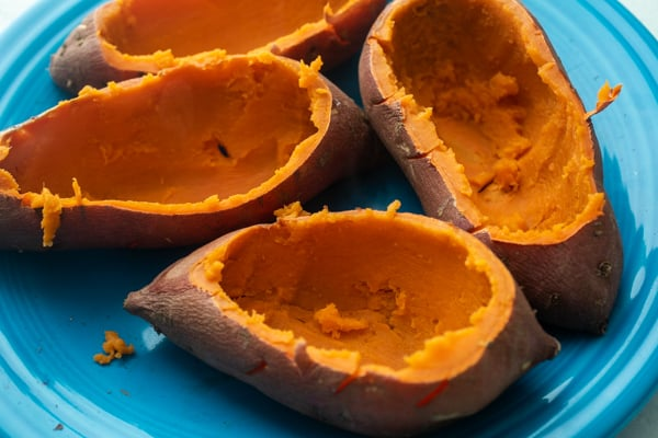 Hollowed Shells - Double Baked Sweet Potatoes