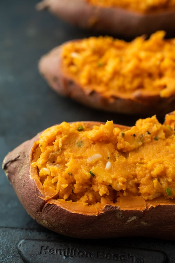 Finished Double-Baked Sweet Potatoes