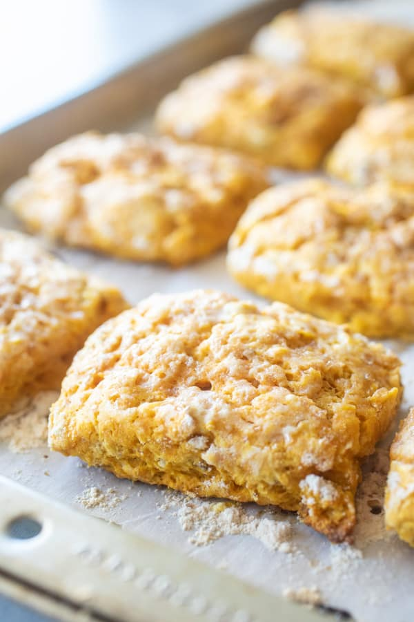 Pumpkin Biscuits with Pecans and Syrup