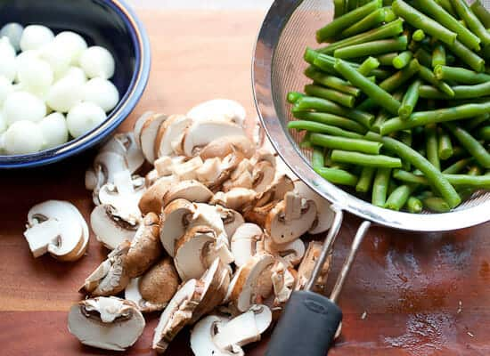 Green Bean Casserole ingredients