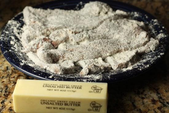 flour coated