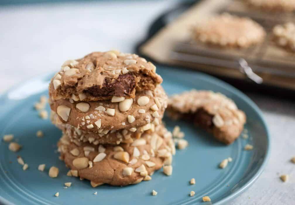 Nutella Stuffed Cookies