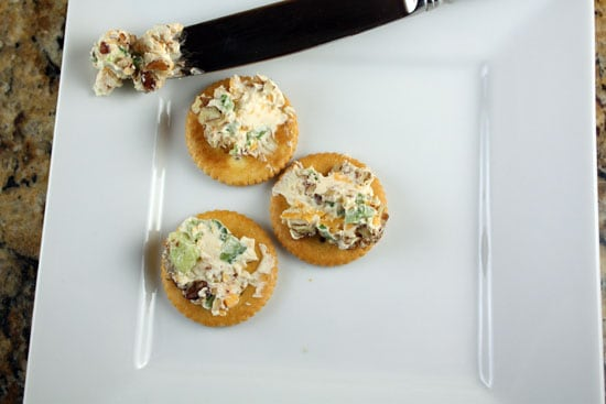 Quick and Delicious Cheese Ball on crackers