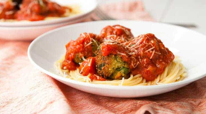 Meatless Meatballs: Savory and rich meatballs made with a spinach and ricotta mixture. You'll never miss the meat in these!