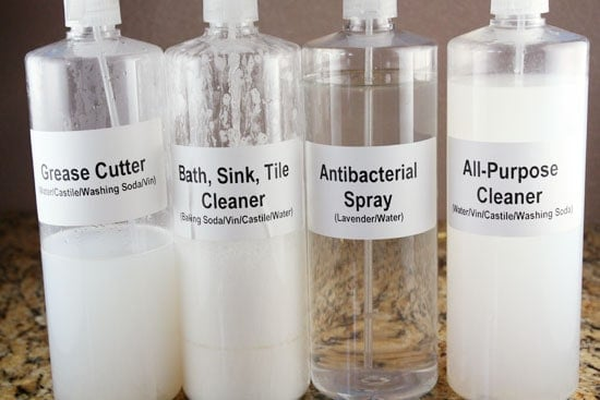 Four Homemade Cleaners