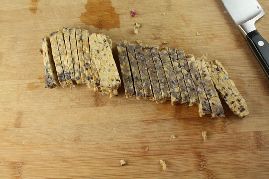 tempeh sliced