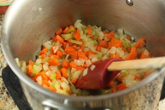 veggies cooking