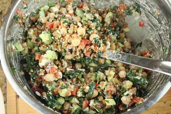 Rainbow Wheat Berry Salad