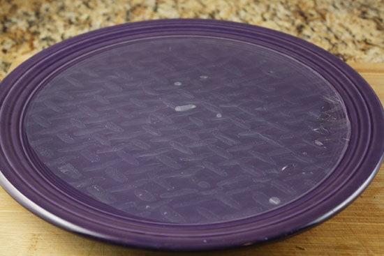 rice paper soaking