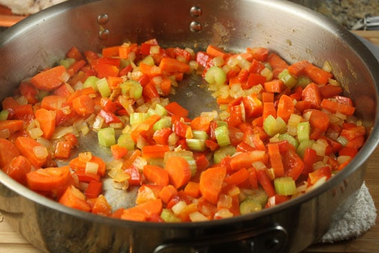 veggies cooking