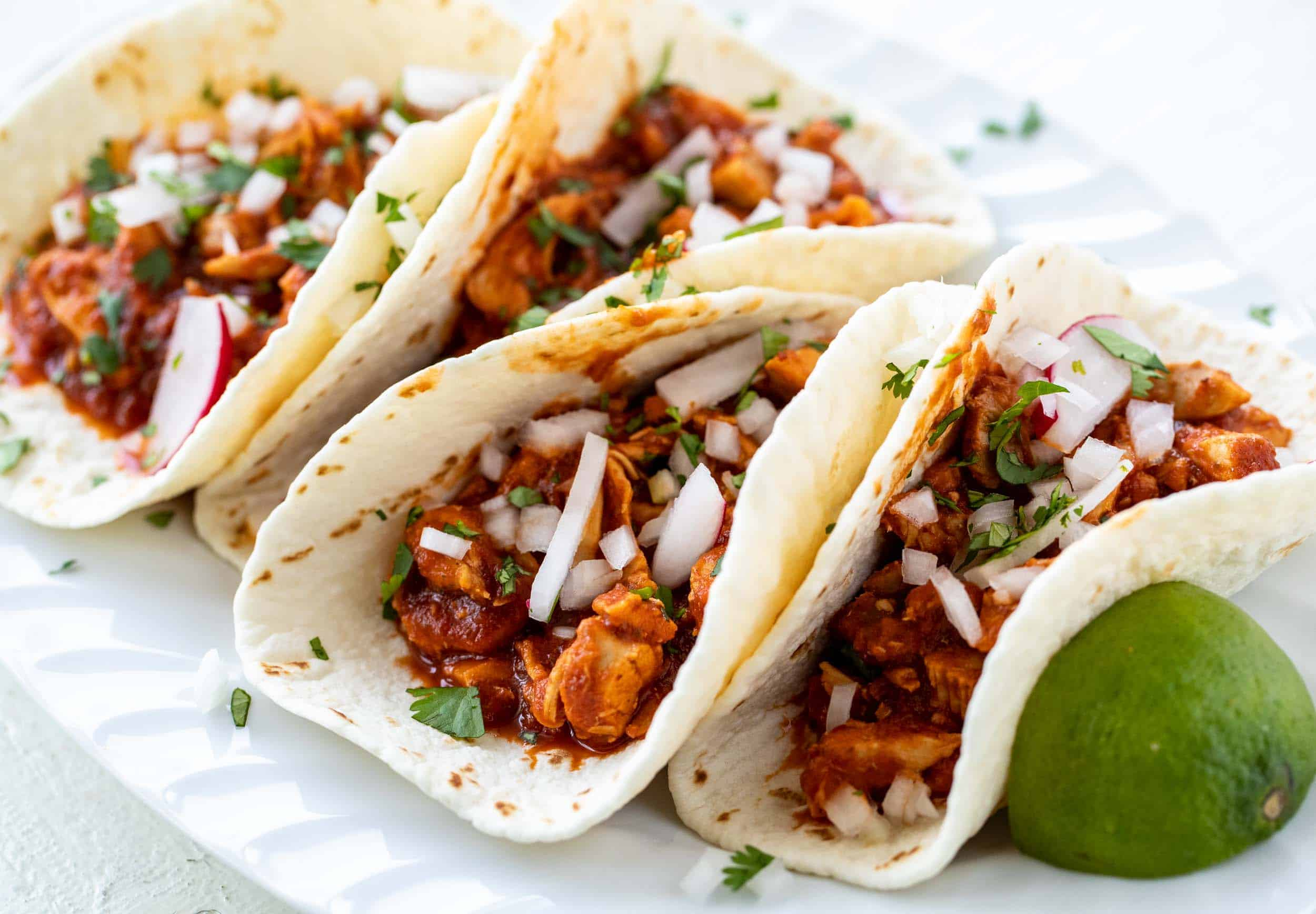 Chipotle Chicken Tacos No Cheese Taco Recipe Macheesmo