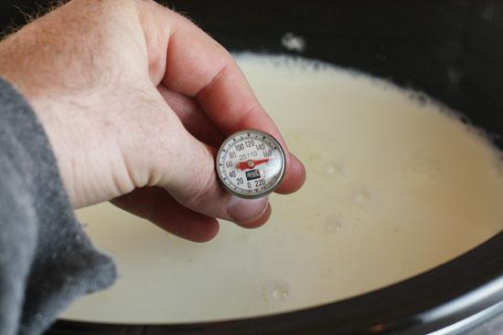 heat up milk for yogurt
