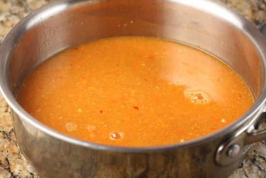 sauce blended