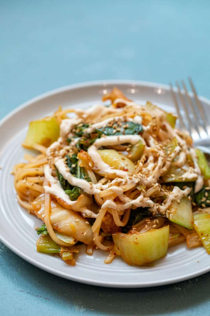Kimchi Stir Fry with Rice Noodles