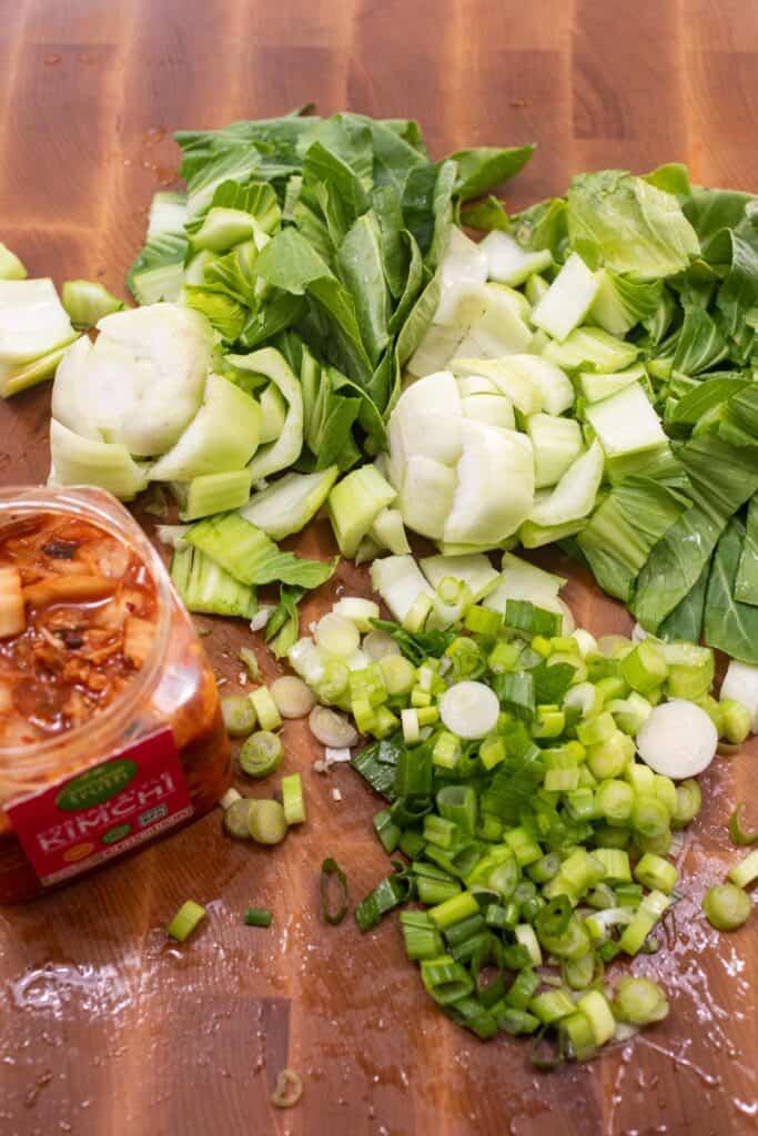 Stir fry prep for veggies.