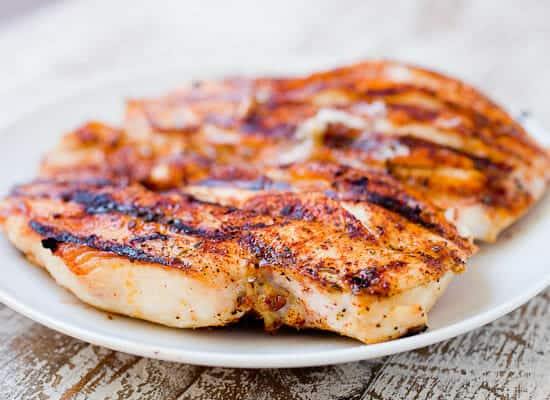 All-purpose rub grilled chicken