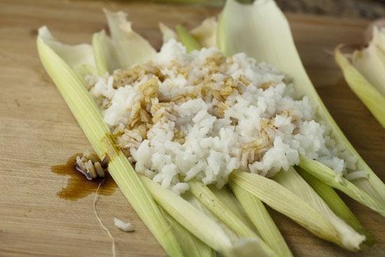 rice on corn