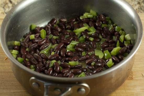 beans and peppers
