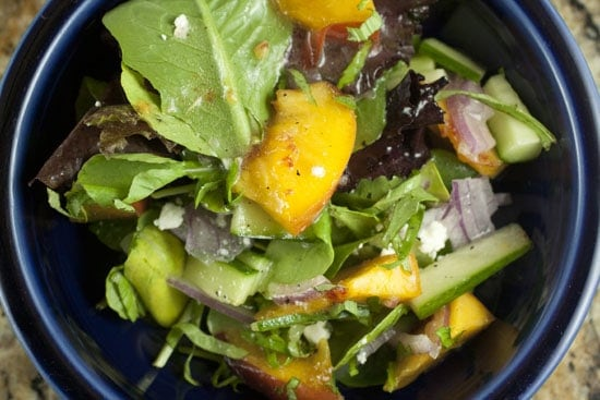 Image of Summer Peach Salad, Macheesmo