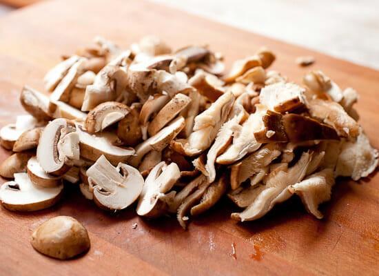 Creamed mushrooms.