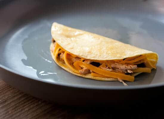 Making Shredded Chicken hard Tacos
