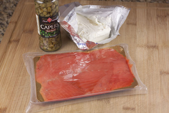 basic stuff for a Lox Omelet