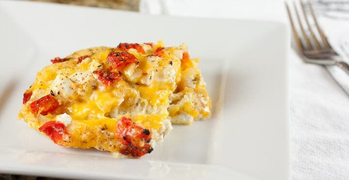 Savory Bread Pudding from Macheesmo
