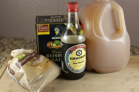 basics for Apple Cider Brined Turkey brine