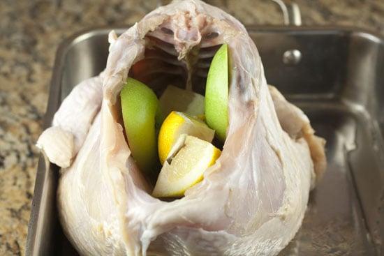 stuff the turkey - Apple Cider Brined Turkey
