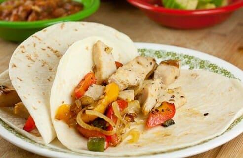 Leftover Turkey Fajitas from Macheesmo