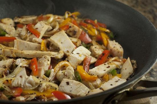 cooking Leftover Turkey Fajitas