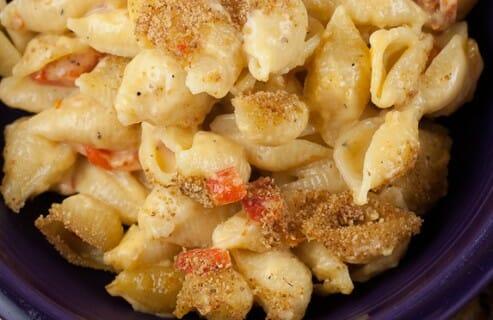 Goat Cheese Macaroni recipe from Macheesmo