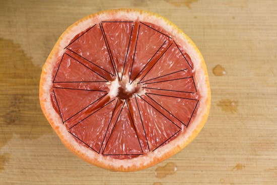 sliced- Broiled Grapefruit