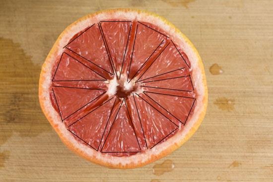 sliced- Broiled Grapefruit