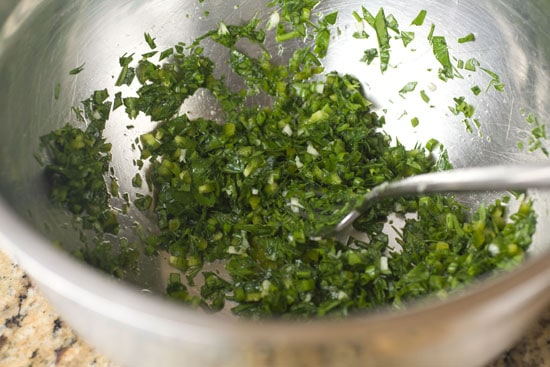 herbs for Jalapeno Ranch Dressing