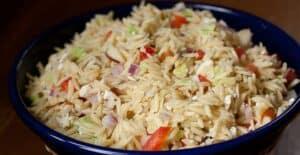 Greek Orzo Salad recipe from Macheesmo
