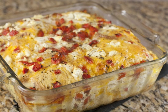 baked Savory Bread Pudding