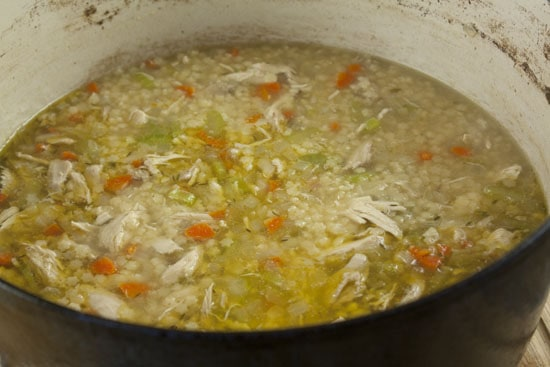 done Chicken and Stars soup recipe