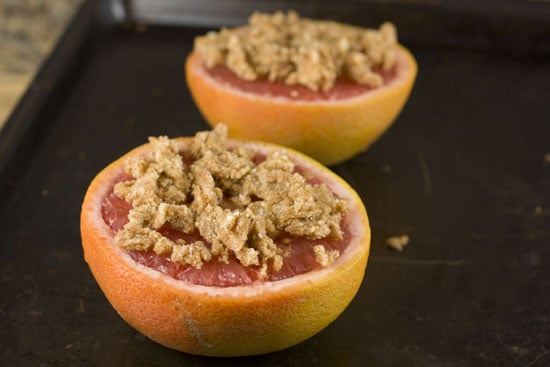 topping on Broiled Grapefruit