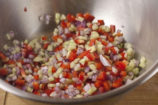 veggies for Greek Orzo Salad