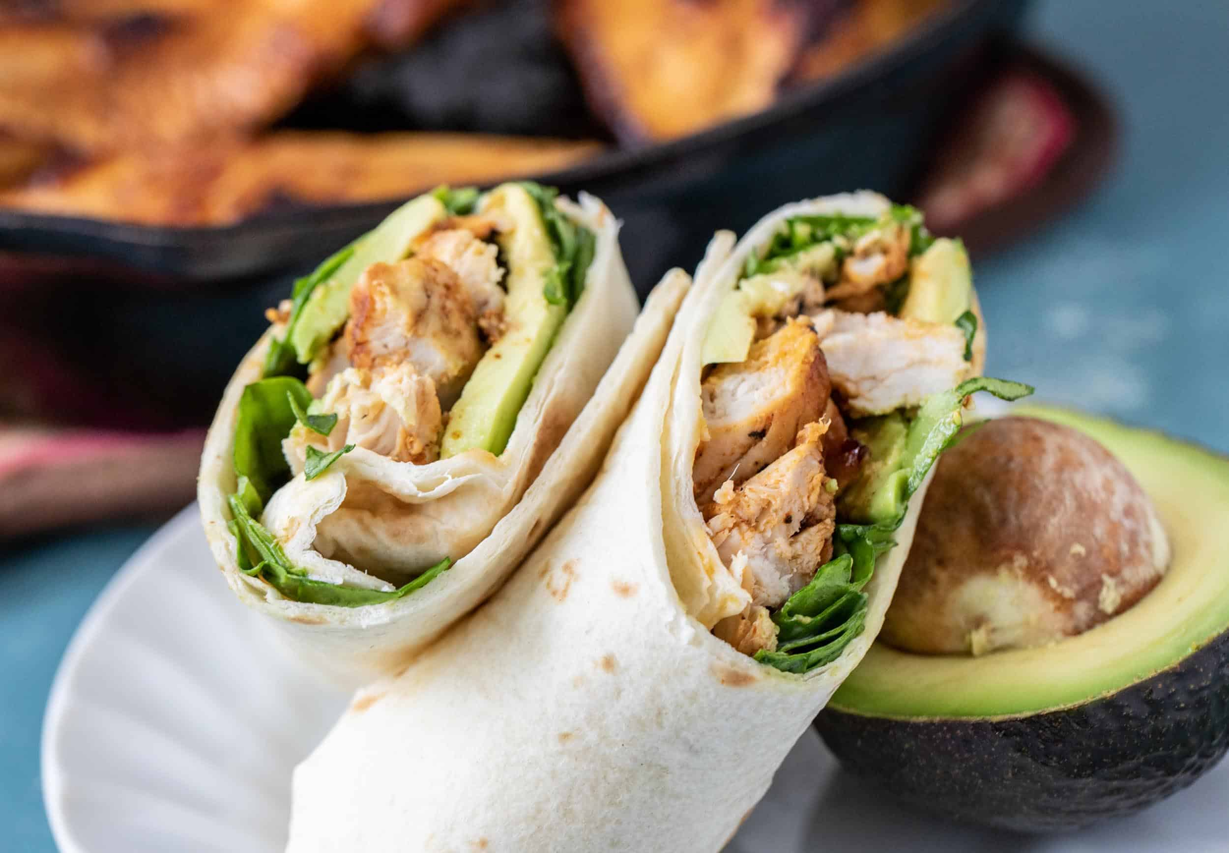 Baja Chicken Wraps with Avocado