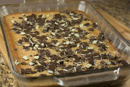 topped Andes Blondies