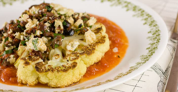 Cauliflower Steaks from Macheesmo