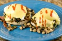 Black Eyed Pea Benedicts recipe from Macheesmo