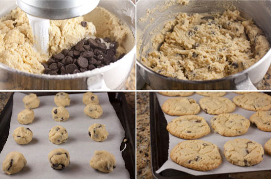 cookies for Chocolate Chip Ice Cream Sandwiches