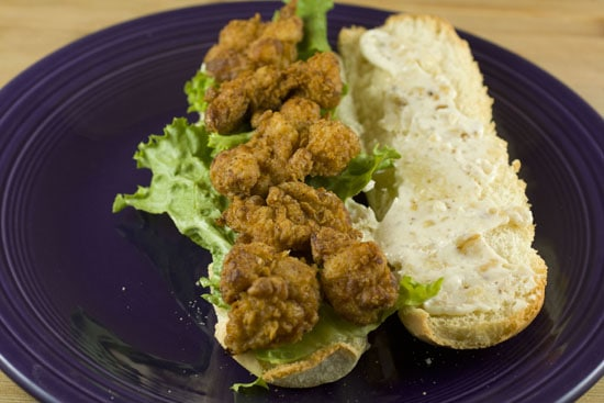 Sweetbreads Po Boys sandwiches