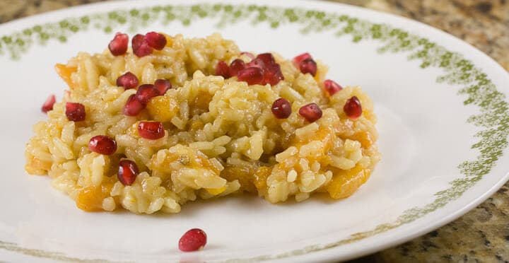 Persimmon Risotto from Macheesmo