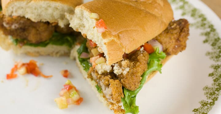 Sweetbreads Po Boys recipe from Macheesmo