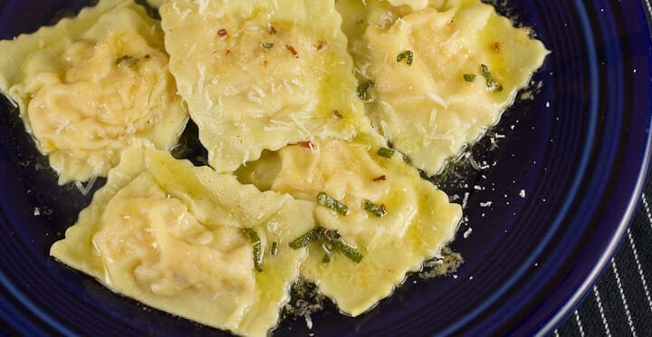 Winter Squash Ravioli recipe from Macheesmo