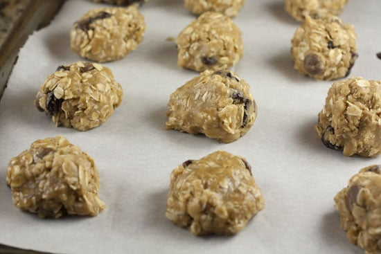 ready to bake Brown Butter Oatmeal Cookies